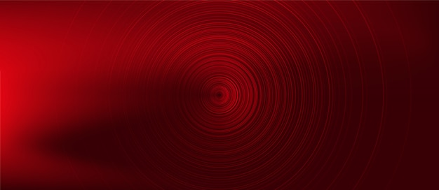 Circle red digital sound wave Vettore Premium