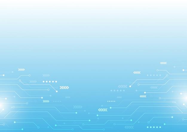 Circuito di computer astratto di vettore fondo di tecnologia alta tecnologia. Vettore Premium