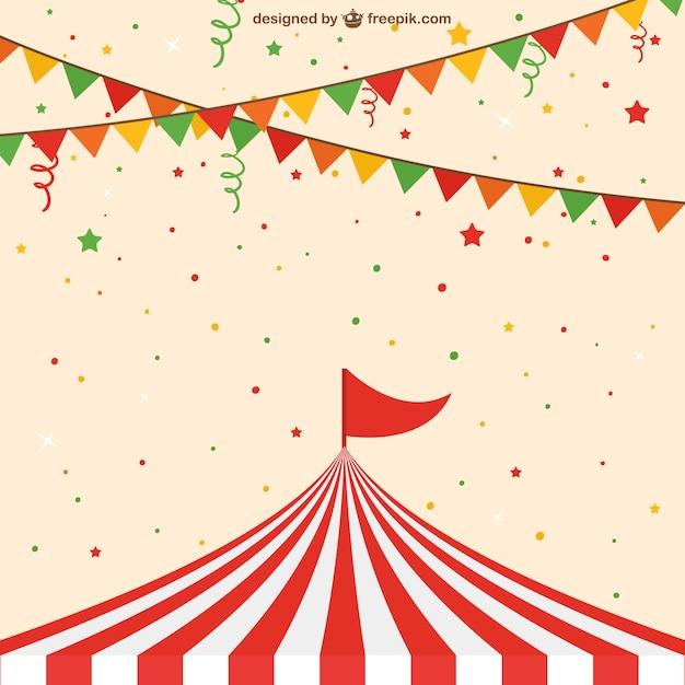 Circus tent Vettore gratuito
