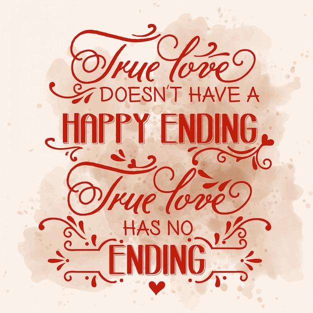 Citazione d'amore romantico Vettore Premium