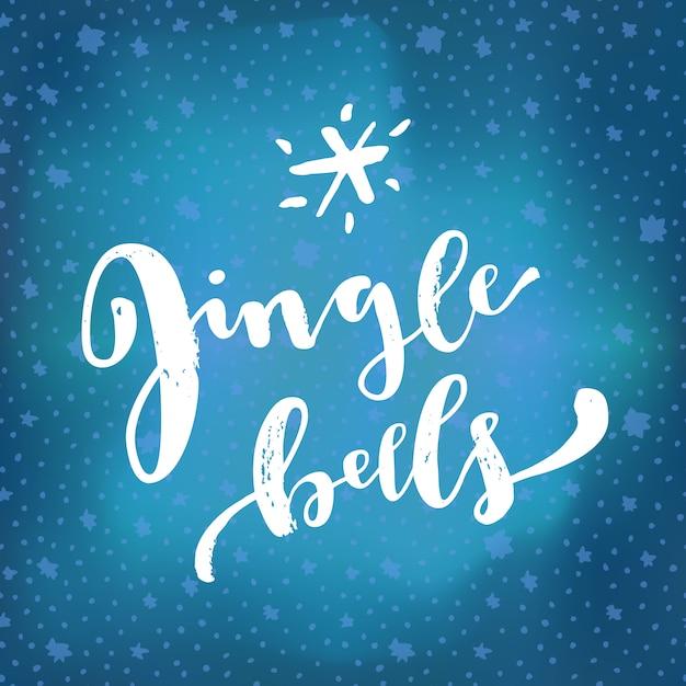Citazione di lettering jingle bells Vettore Premium