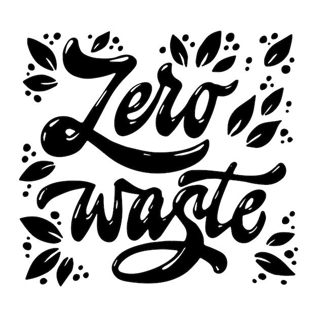 Citazione scritta a mano a spreco zero Vettore Premium