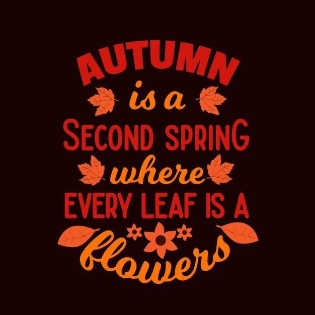 Citazioni divertenti di tipografia di autunno che dicono iscrizione Vettore Premium