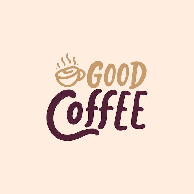 Citazioni sul caffè Vettore Premium