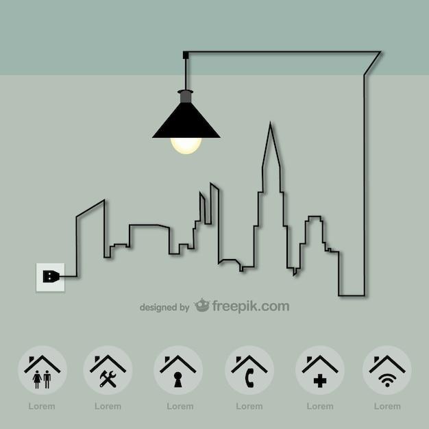 Città di energia template vector Vettore gratuito