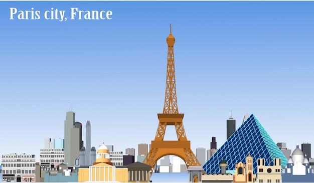 Città parigi francia di vettore Vettore Premium