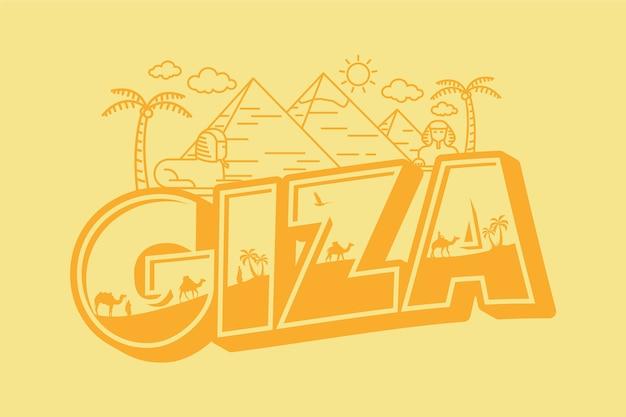 Ciza city lettering Vettore gratuito
