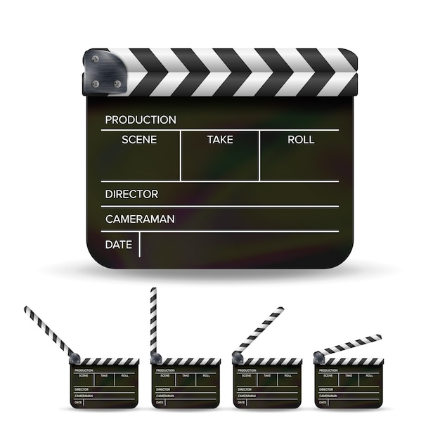 Clapper board. Vettore Premium