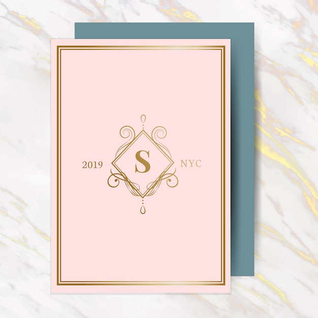Classica carta di invito a nozze Vettore gratuito