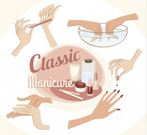 Classica illustrazione manicure Vettore gratuito