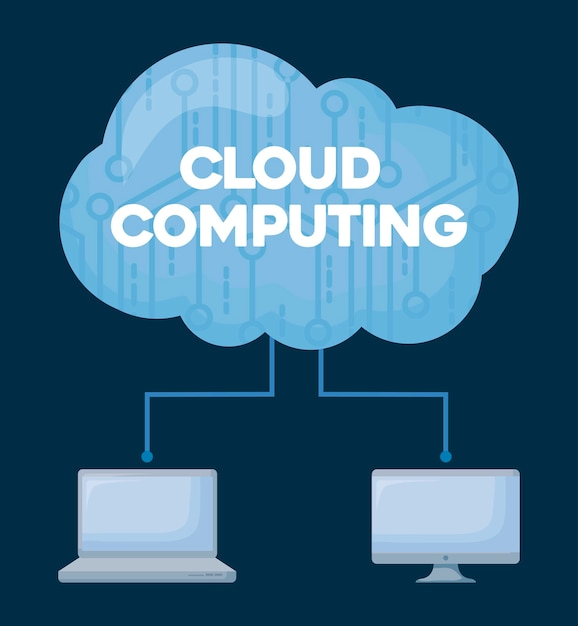 Cloud computing Vettore gratuito
