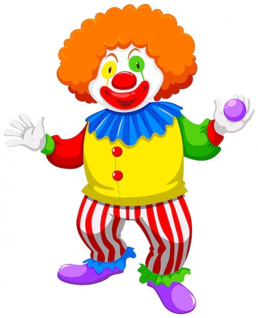 Clown che tiene una palla Vettore gratuito