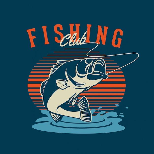 Club di pesca Vettore Premium