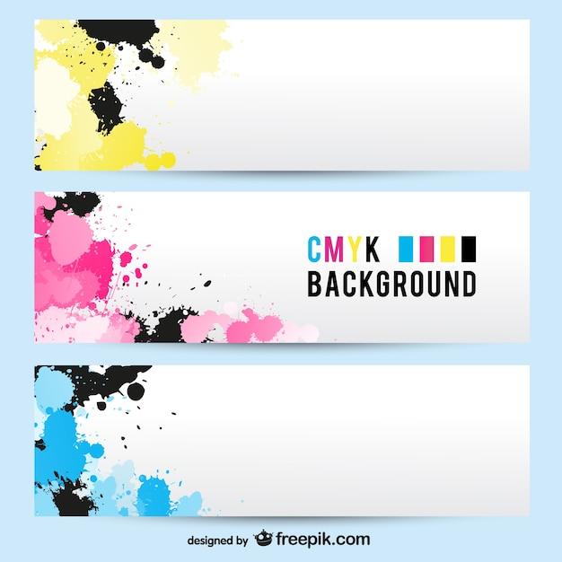 Cmyk banner background Vettore gratuito