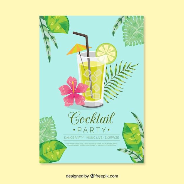 Cockatail party design Vettore gratuito