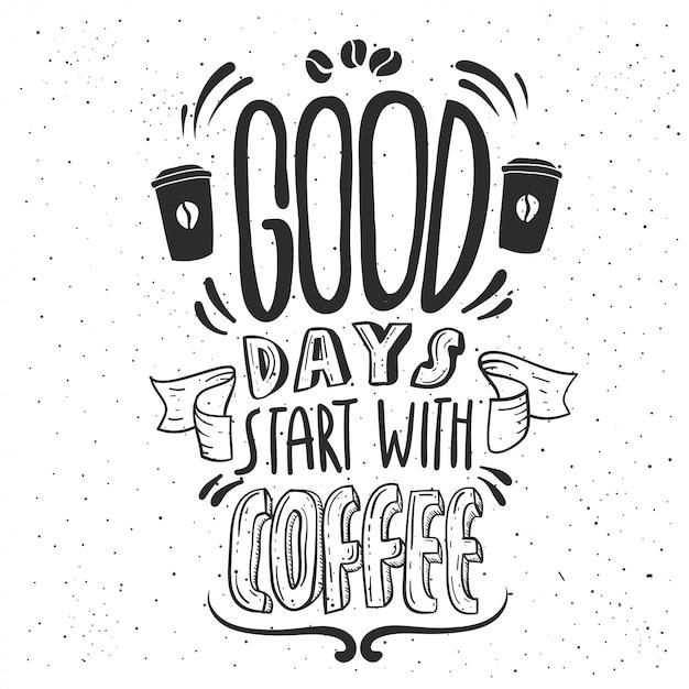 Coffe quote Vettore Premium
