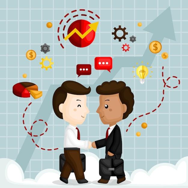 Collaborazione d'affari Vettore Premium