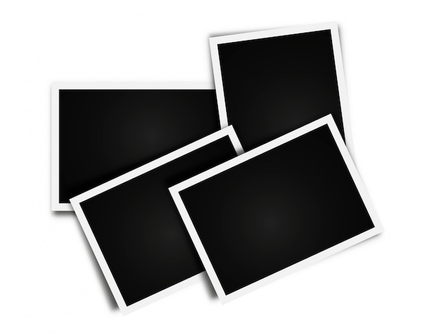 Collage di foto frame frame vuoto Vettore Premium