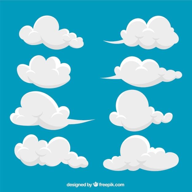Collezione abstract cloud Vettore gratuito