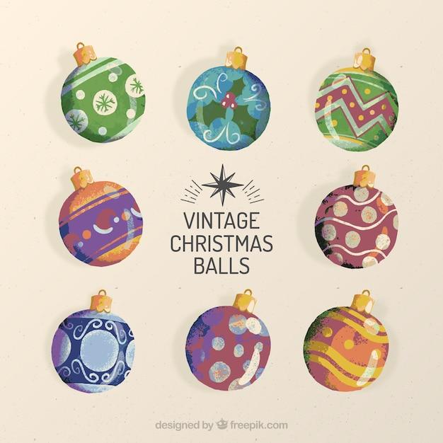 Palline Di Natale Vintage Sanzoni Di Natale