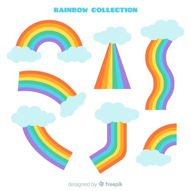 Collezione arcobaleno Vettore gratuito