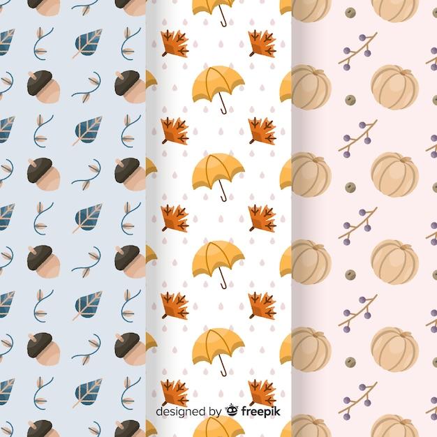 Collezione autunno modello disegnato a mano Vettore gratuito