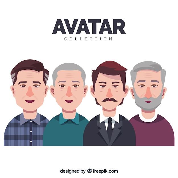Collezione avatar di adulti Vettore gratuito