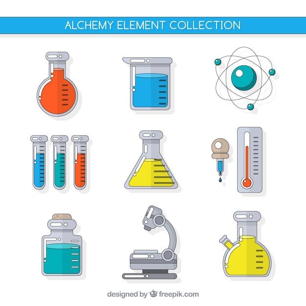 Collezione di accessori alchimia Vettore gratuito