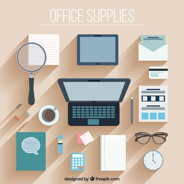 Collezione di accessori ufficio di design piatto for Accessori design ufficio