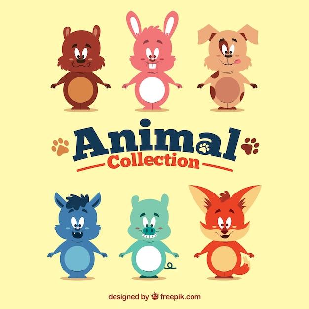Collezione di animali cartone animato scaricare vettori