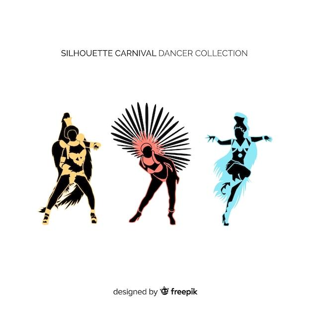 Collezione di ballerini brasiliani di carnevale Vettore gratuito