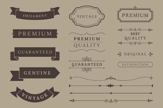 Collezione di banner di qualità premium Vettore gratuito