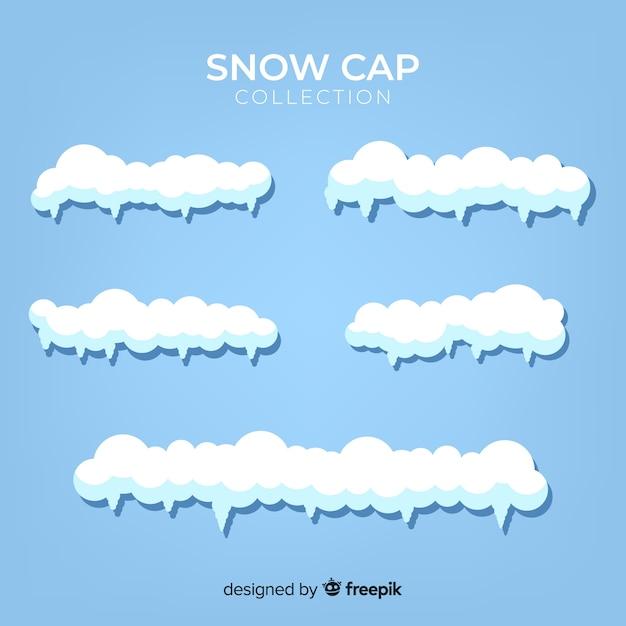 Collezione di cappucci da neve disegnata a mano Vettore gratuito