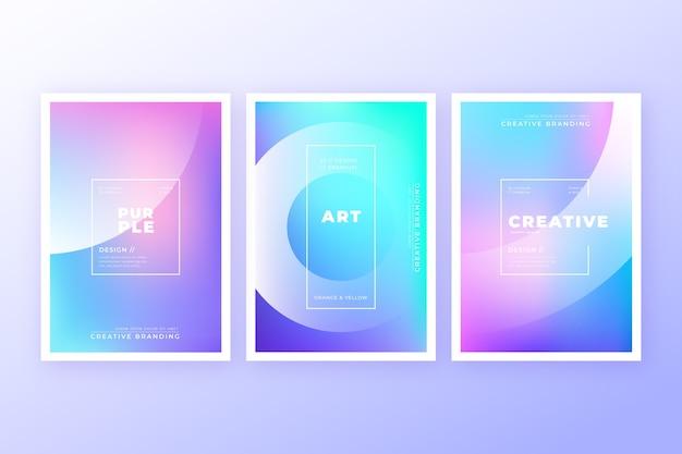 Collezione di copertine colorate astratte Vettore gratuito
