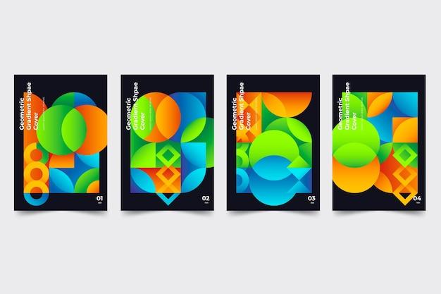 Collezione di copertine di forme geometriche sfumate Vettore gratuito