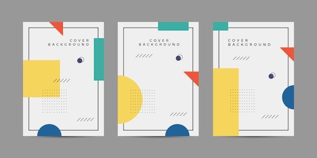 Collezione di copertine di memphis Vettore Premium