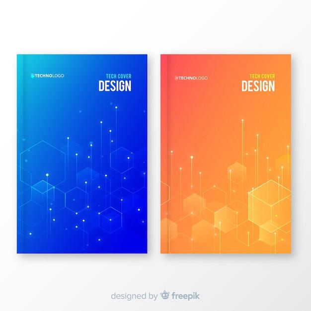 Collezione di copertine geometrica Vettore gratuito