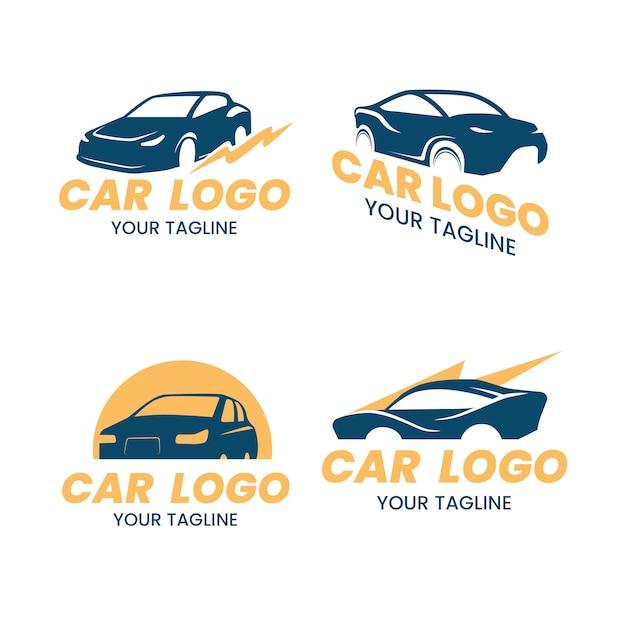 Collezione di design del logo auto Vettore gratuito