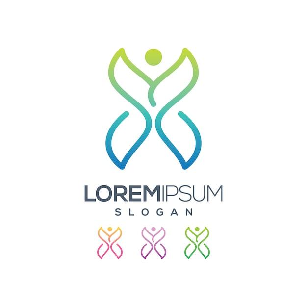 Collezione di design logo farfalla Vettore Premium
