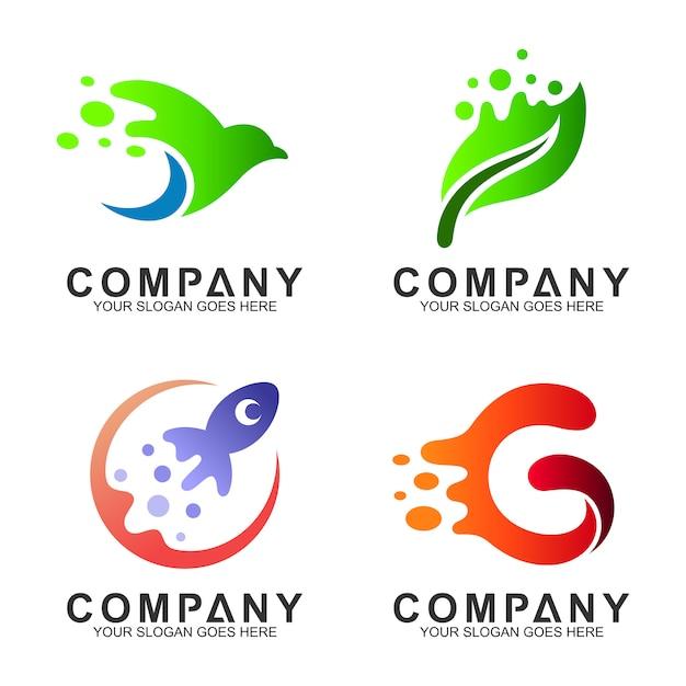 Collezione di design semplice logo moderno Vettore Premium