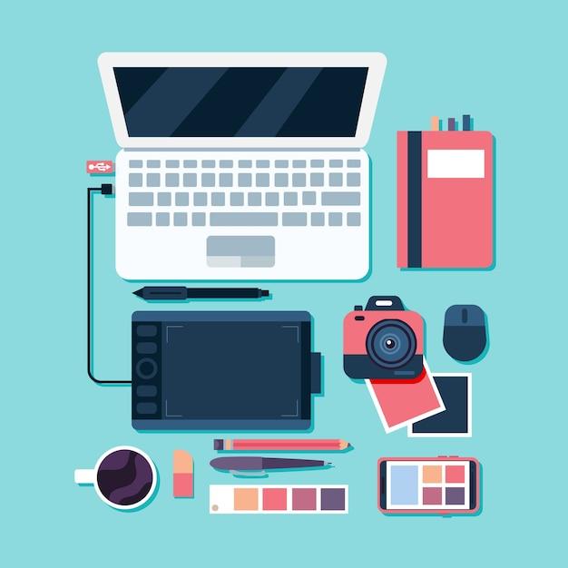 Collezione di elementi di design grafico Vettore Premium