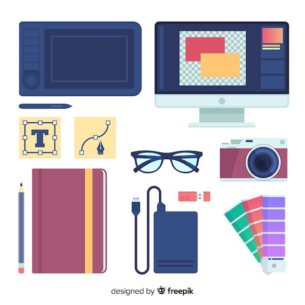 Collezione di elementi di design grafico Vettore gratuito