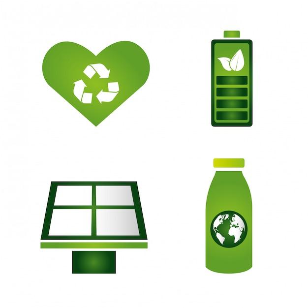 Collezione di elementi ecofriendly Vettore gratuito