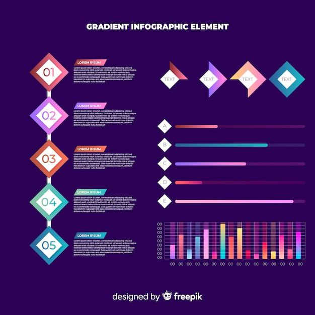 Collezione di elementi moderni infografica Vettore gratuito