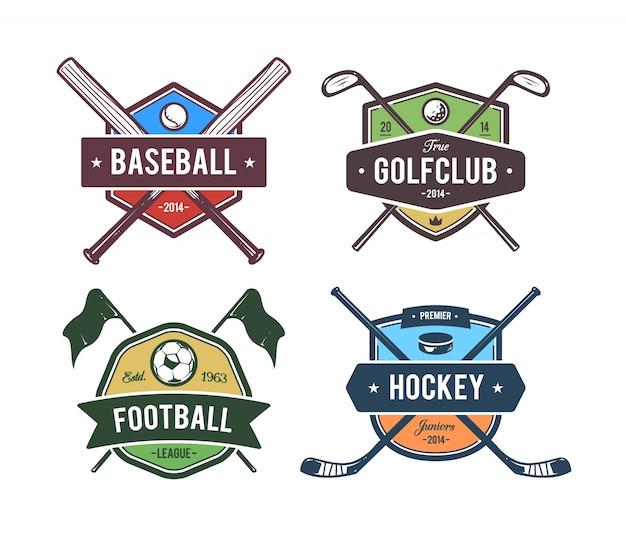 Collezione di emblemi sportivi Vettore gratuito