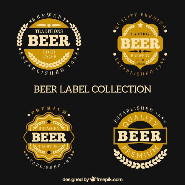 Collezione di etichetta di birra in stile retrò Vettore gratuito