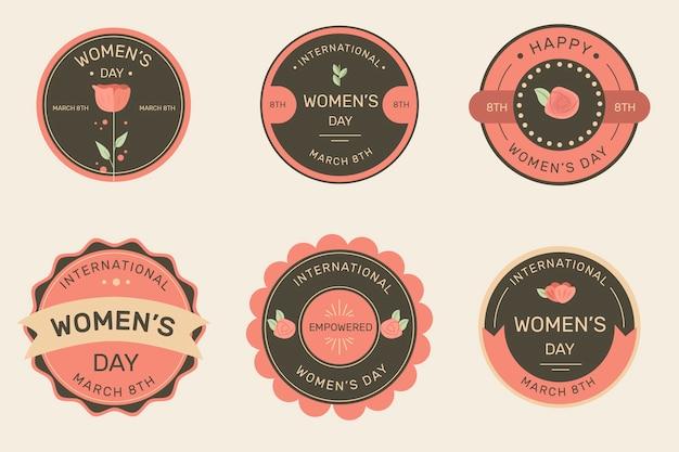 Collezione di etichette da donna vintage Vettore gratuito
