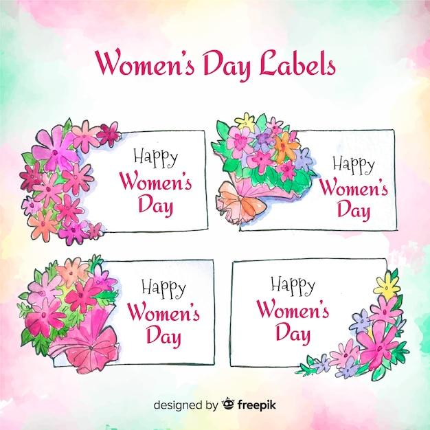 Collezione di etichette per donna Vettore gratuito