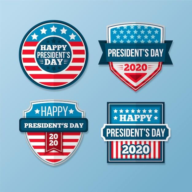 Collezione di etichette per il giorno del presidente Vettore gratuito