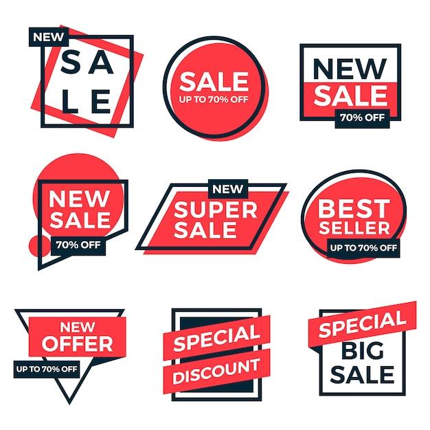Collezione di etichette tag in vendita Vettore Premium
